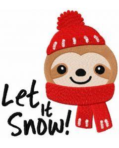 Christmas sloth free embroidery design