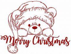 Christmas Teddy bear 3 embroidery design