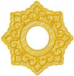 Religion decoration embroidery design