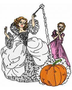 Fairy and Cinderella embroidery design