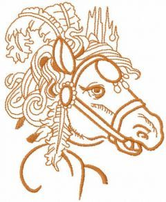 Circus horse free embroidery design