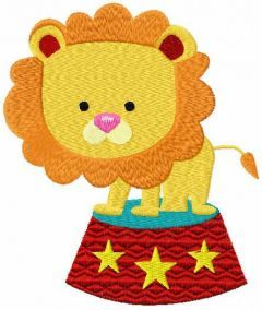Lion circus free embroidery design