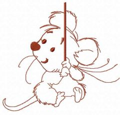 Circus mouse embroidery design