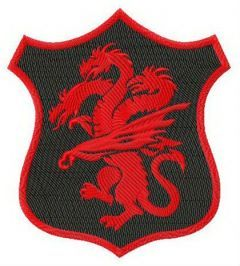 Coat of arms of House Targaryen embroidery design