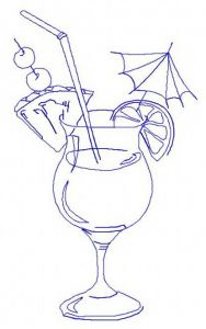 Cocktail 4 embroidery design