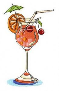 Cocktail 5 embroidery design