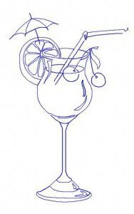 Cocktail 6 embroidery design