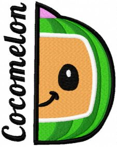 Cocomelon game time embroidery design