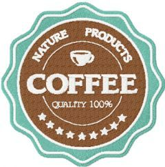 Coffee Labels American Classic style embroidery design