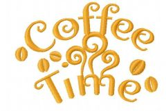 Coffee time 5 embroidery design