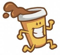 Coffee to go 2 embroidery design