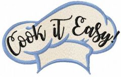 Cook it easy embroidery design