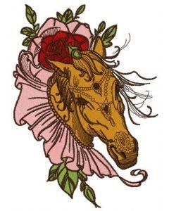 Coquette horse embroidery design 3