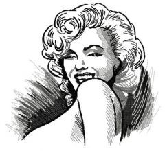 Coquette Marilyn embroidery design