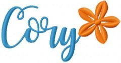 Cory name free embroidery design