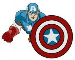 Courage of Captain America embroidery design