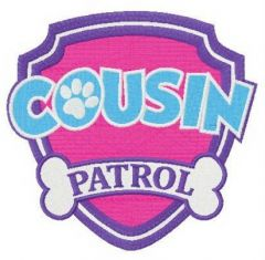 Cousin Patrol embroidery design