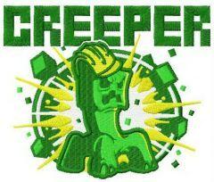 Creeper embroidery design
