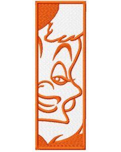 Cruella de vil bookmark embroidery design