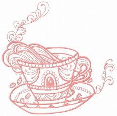 Cup with inspiration 2 embroidery design