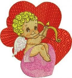 Valentine's Day Cupid embroidery design