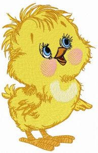Curious chicken 3 embroidery design