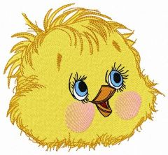 Curious chicken 4 embroidery design