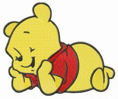 Cute baby Pooh embroidery design