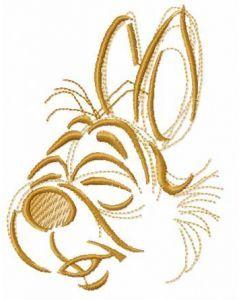 Cute bunny muzzle embroidery design