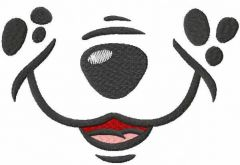 Cute dog smiling embroidery design