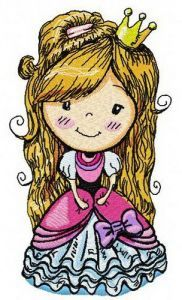Cute princess 2 embroidery design