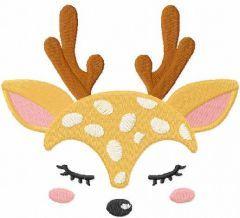 Cute reindeer free embroidery design