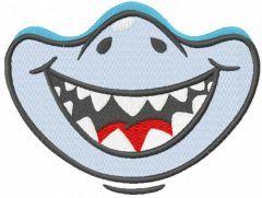 Cute shark embroidery design