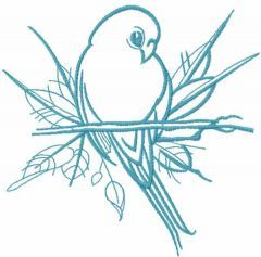 Cute little swallow free embroidery design