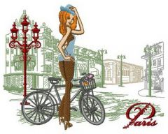 Cycling tour 2 embroidery design