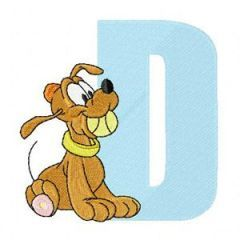 Pluto D Dog embroidery design