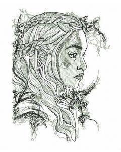 Daenerys sketch embroidery design