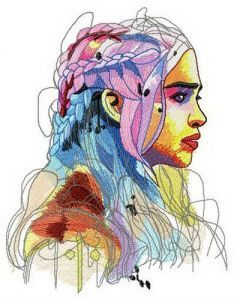 Daenerys Targaryen embroidery design