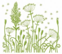 Dance of field herbs embroidery design