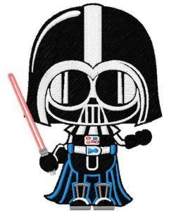Darth Vader Chibi embroidery design