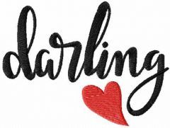 Darling embroidery design