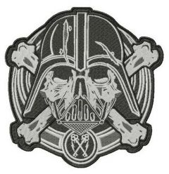 Darth Vader large patch embroidery design
