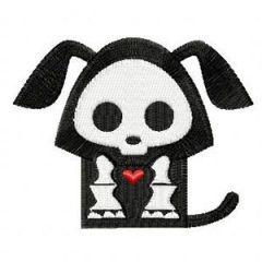 Skelanimals Dax embroidery design