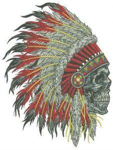 Dead warrior embroidery design