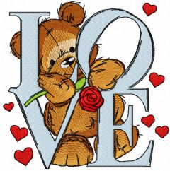 Declaration of love embroidery design