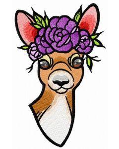 Deer's summer time embroidery design