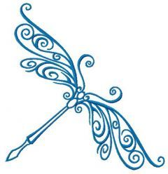 Delicate dragonfly 2 embroidery design