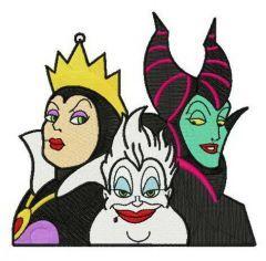 Devil trio embroidery design
