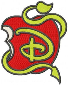 Disney Descendants Logo embroidery design