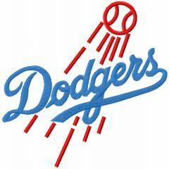 Dodgers vintage logo embroidery design